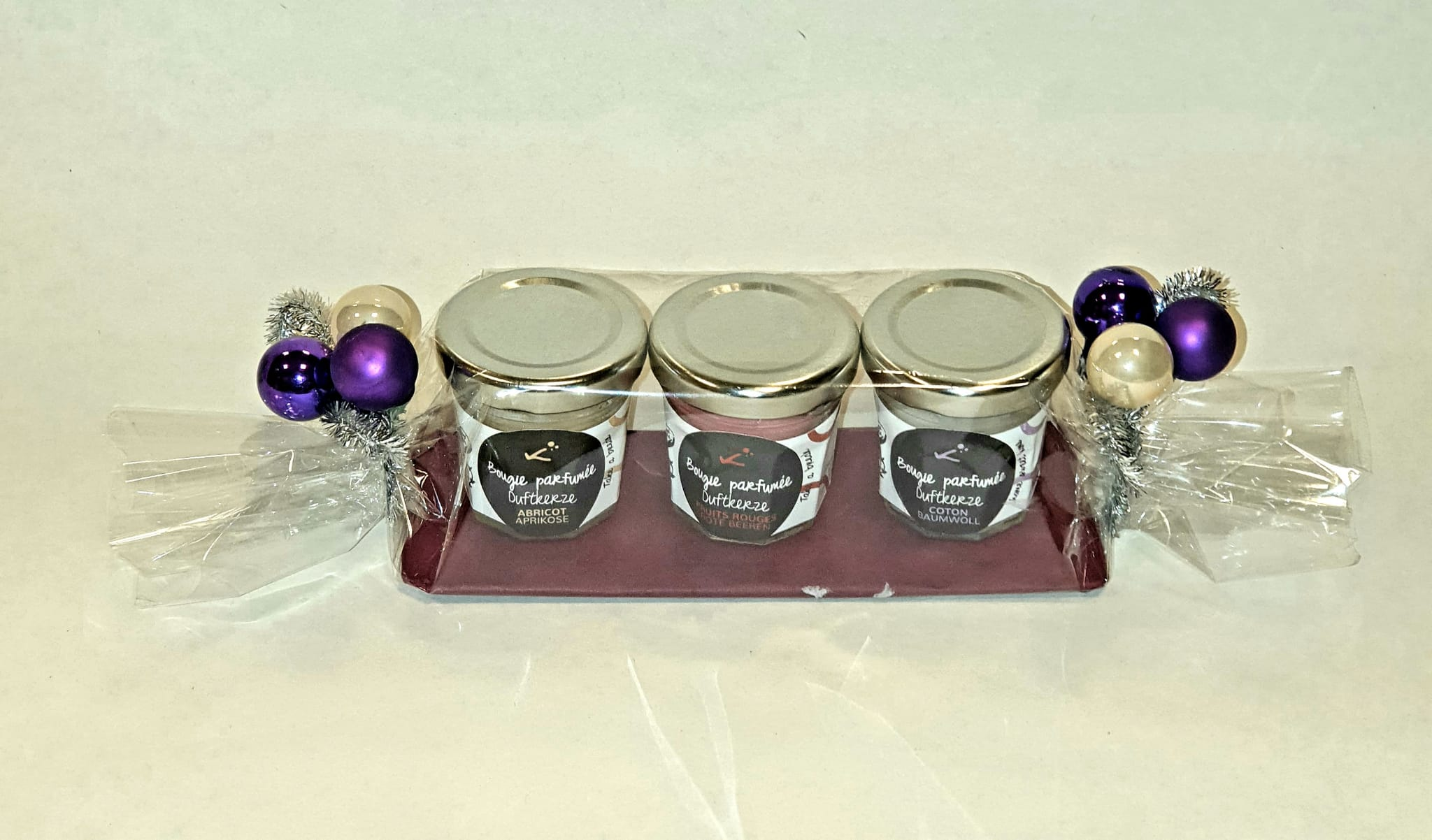 Set de 3 bougies parfumées